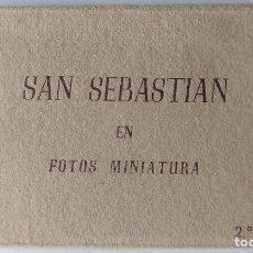 Postales: SAN SEBASTIAN EN FOTOS MINIATURA 12 POSTALES 9,5 X 5,5 CM.. Lote 257395490