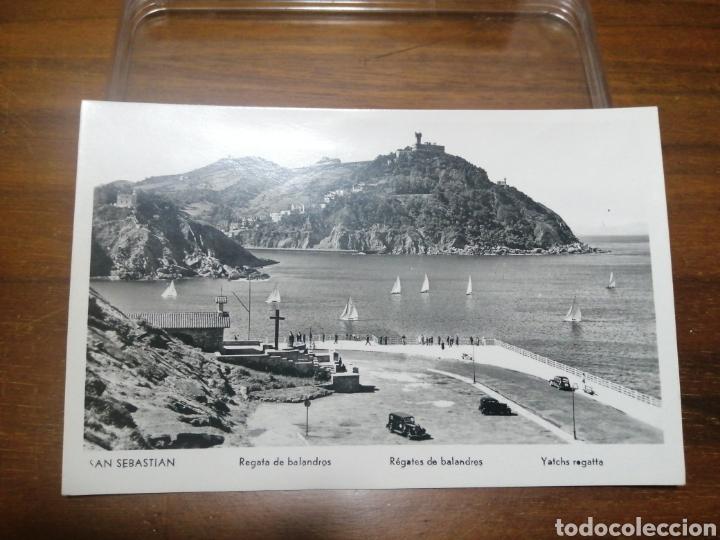 POSTAL SAN SEBASTIÁN REGATA DE BALANDROS (Postales - España - País Vasco Moderna (desde 1940))