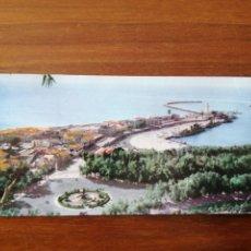 Postales: POSTAL DOBLE - MÁLAGA - VISTA PARCIAL DEL PUERTO Y DE LA MALAGUEÑA. Lote 260634240