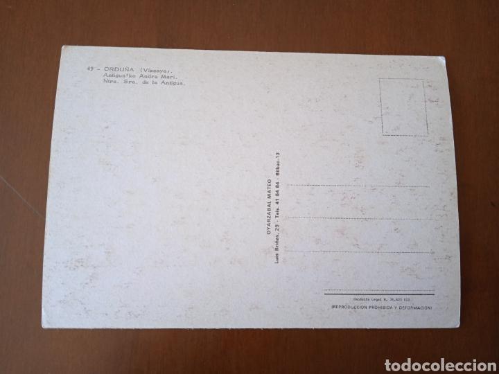 Postales: Postal VIRGEN Antigua ko Andra Mari. NTRA SRA de la ANTIGUA.Orduña (Vizcaya).Sin circular. - Foto 3 - 261920480