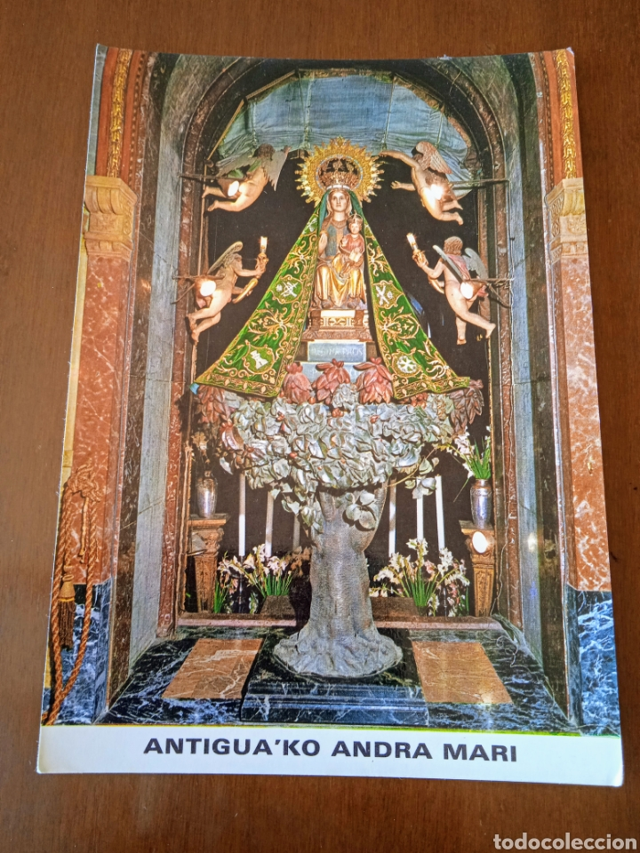 Postales: Postal VIRGEN Antigua ko Andra Mari. NTRA SRA de la ANTIGUA.Orduña (Vizcaya).Sin circular. - Foto 2 - 261920480