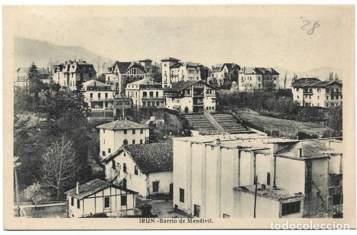 IRÚN - BARRIO DE MENDIVIL - L. ROISIN - CIRCULADA 1943 (Postales - España - País Vasco Moderna (desde 1940))