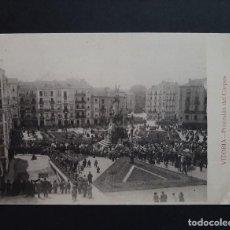 Cartes Postales: POSTAL VITORIA - PROCESION DEL CORPUS - CIRCULADA 1922 - RARA. Lote 262144070