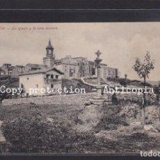 Postales: POSTAL DE ESPAÑA - FUENTERRABIA - LA IGLESIA Y LA CRUZ ANCIANA. Lote 263129420
