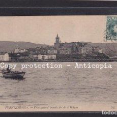 Postales: POSTAL DE ESPAÑA - 12 FUENTERRABIA. - VISTA GENERAL TOMADA DESDE EL BIDASOA. Lote 263130200