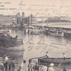 Postales: SAN SEBASTIAN VISTA DESDE PUERTO. ED. HAUSER Y MENET Nº 1475. REVERSO SIN DIVIDIR. CIRCULADA 1905. Lote 263167380