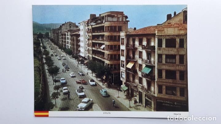 POSTAL IRÚN (GUIPÚZCOA), AVENIDA GENERALÍSIMO FRANCO, NAYLLA MANIPEL (Postales - España - País Vasco Moderna (desde 1940))