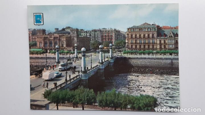 POSTAL SAN SEBASTIÁN (GUIPÚZCOA), PUENTE DEL KURSAAL, DOMÍNGUEZ Nº 16 (Postales - España - País Vasco Moderna (desde 1940))