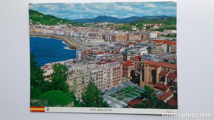 POSTAL SAN SEBASTIÁN (GUIPÚZCOA), PLAZA DE ZULOAGA Y BARRIO DE GROS, MANIPEL NAYLLA (Postales - España - País Vasco Moderna (desde 1940))