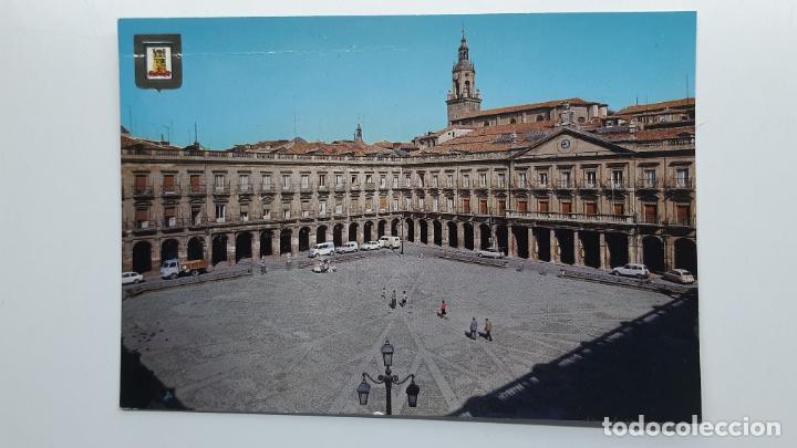 POSTAL VITORIA (ÁLAVA), PLAZA DE ESPAÑA, DOMÍNGUEZ ESCUDO DE ORO Nº 23 (Postales - España - País Vasco Moderna (desde 1940))