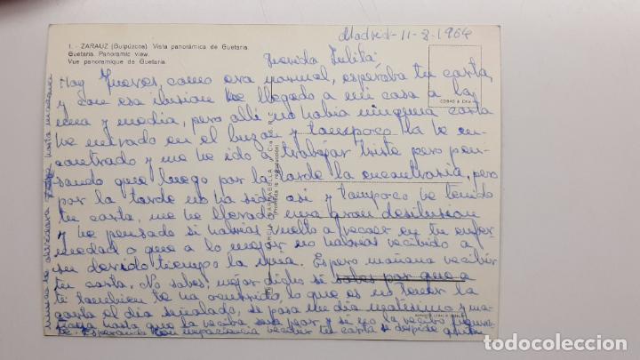 Postales: Postal Zarauz (Guipúzcoa), Vista panorámica de Guetaria, G. Garrabella nº 1 SEAT 600 Citroen Tiburon - Foto 2 - 263622860