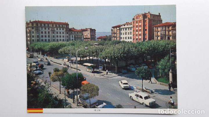 POSTAL IRÚN (GUIPÚZCOA), PLAZA DE ESPAÑA, NAYLLA MANIPEL (Postales - España - País Vasco Moderna (desde 1940))