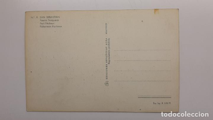 Postales: Postal San Sebastián (Guipúzcoa), Puerto pesquero, Ediciones Españolas Alba nº 8 - Foto 2 - 263622875