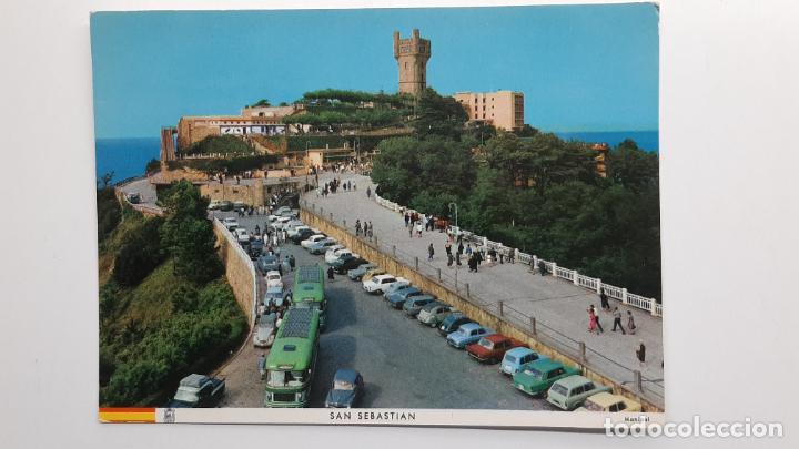 POSTAL SAN SEBASTIÁN (GUIPÚZCOA), PARQUE DE IGUELDO, MANIPEL SEAT CITROEN RENAULT (Postales - España - País Vasco Moderna (desde 1940))