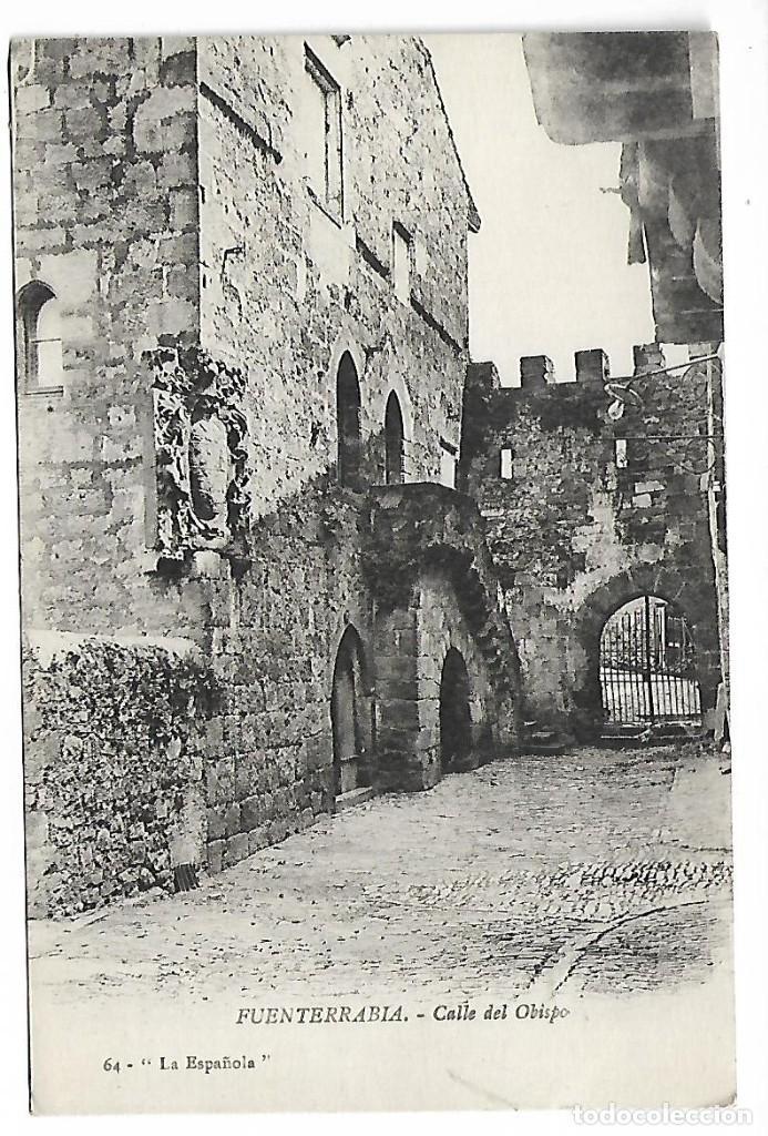 1R- PAIS VASCO FUENTERRABIA CALLE DEL OBISPO POSTAL ANTIGUA - NUEVA (Postales - España - País Vasco Moderna (desde 1940))