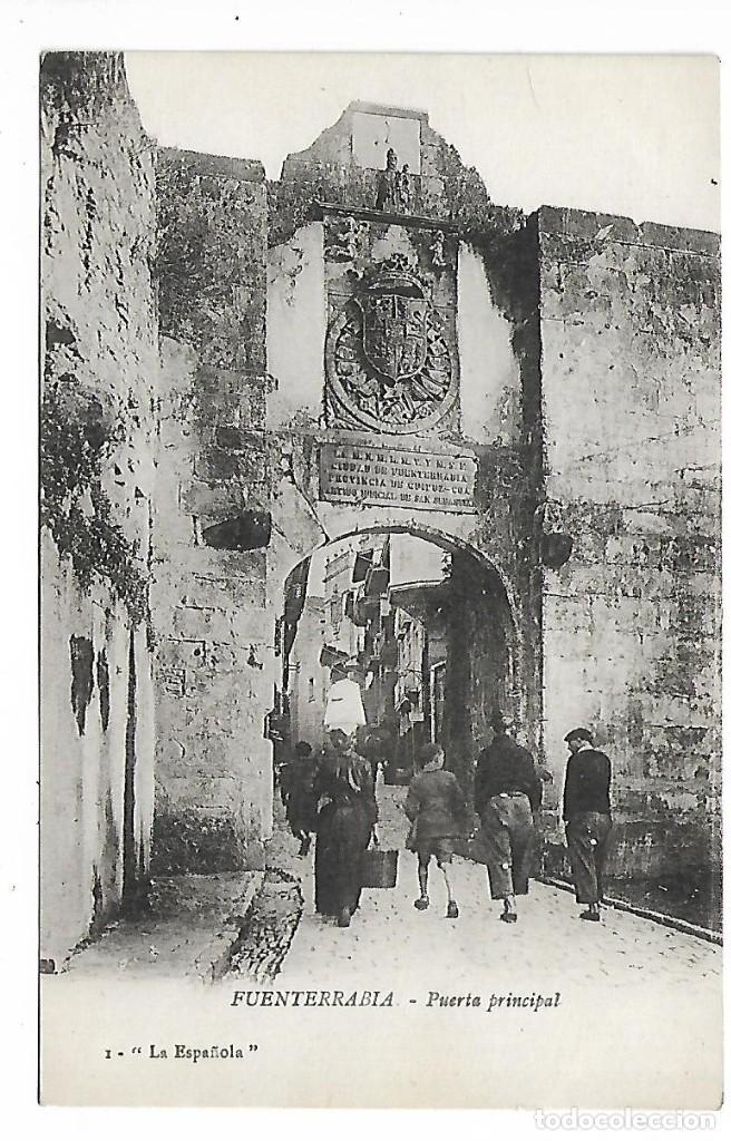 1R- PAIS VASCO FUENTERRABIA PUERTA PRINCIPAL POSTAL ANTIGUA - NUEVA (Postales - España - País Vasco Moderna (desde 1940))