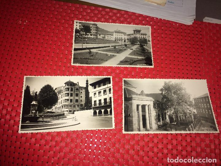 GUERNICA ( VIZCAYA ) LOTE DE 3 FOTOGRAFIAS ORIGINALES DE LOS AÑOS 50 - TAMAÑO POSTAL (Postales - España - País Vasco Moderna (desde 1940))