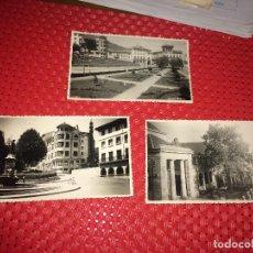 Postales: GUERNICA ( VIZCAYA ) LOTE DE 3 FOTOGRAFIAS ORIGINALES DE LOS AÑOS 50 - TAMAÑO POSTAL. Lote 263795995