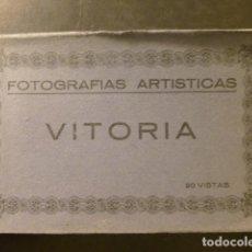 Postales: VITORIA ALAVA PAÍS VASCO CUADERNO 20 POSTALES HACIA 1920. Lote 265344769