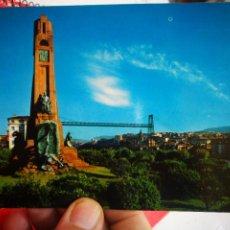 Postales: POSTAL LAS ARENAS MONUMENTO A CHURRUCA Y PUENTE DE VIZCAYA N 7222 SAN CAYETANO 1968 ESCRITA. Lote 267451199
