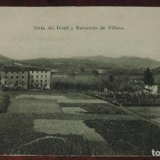 Postais: POSTAL DE VISTA DEL HOTEL Y BALNEARIO DE VILLARO, VIZCAYA, CIRCULADA.. Lote 267894329