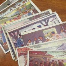 Cartoline: COLECCIÓN DE 12 POSTALES ESPECIALES DE JOSÉ ARRUE. Lote 268287294