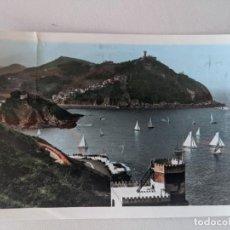 Postales: AÑOS 60 POSTAL REGATAS SAN SEBASTIAN FOTOGRAFICA COLOREADA VISTA DESDE EL MONTE URGULL. Lote 269135343