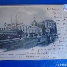 Postales: (PS-65609)POSTAL DE BILBAO-PUENTE DEL ARENAL Y ESTACIONES.LANDABURU HERMANAS. Lote 269181223