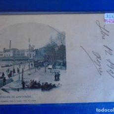 Postales: (PS-65612POSTAL DE BILBAO-ESTACION DE SANTANDER.LANDABURU HERMANAS. Lote 269181328