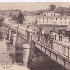 Postales: BEHOBIA PUENTE INTERNACIONAL. POSTAL FRANCESA CIRCULADA EN 1918. Lote 269949243