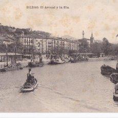 Postales: BILBAO EL ARENAL Y LA RIA. ED. L.G. BILBAO. SIN CIRCULAR. Lote 269955518