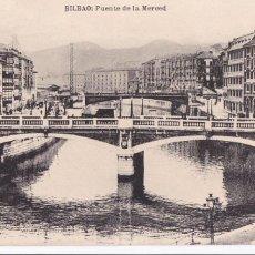 Postales: BILBAO PUENTE DE LA MERCED. ED. L.G. BILBAO. SIN CIRCULAR. Lote 269955983