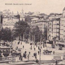 Postales: BILBAO BOULEVARD Y ARENAL. ED. L.G. BILBAO. SIN CIRCULAR. Lote 269956168