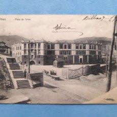 Postales: BILBAO. PLAZA DE TOROS. FRANQUEADA EL 7 DE JUNIO DE 1912.. Lote 270626333