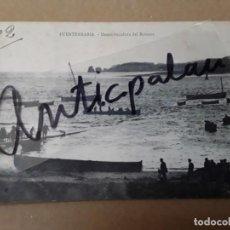 Postales: POSTAL ANTIGUA - FUENTERRABIA - DESEMBOCADURA DEL BIDAOSA - ORIGINAL EPOCA. Lote 274785288