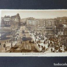 Postales: BILBAO PUENTE DE ISABEL II. Lote 275158968