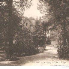 Postales: POSTAL BIARRITZ . ( B. - PYR) VILLA TAIGA, AVENUE CHASSIN.. Lote 276081973