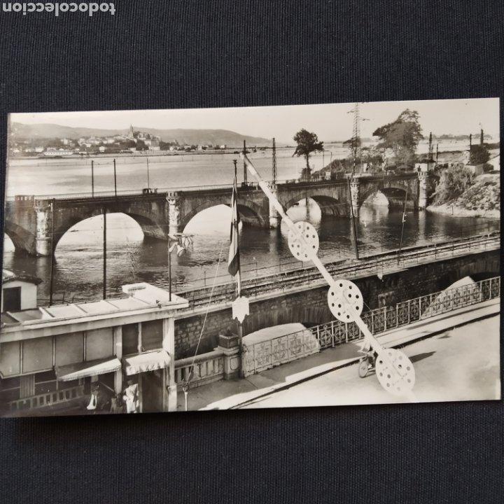 51 IRÚN, PUENTE INTERNACIONAL. HELIOTIPIA ARTÍSTICA ESPAÑOLA - MADRID (Postales - España - País Vasco Moderna (desde 1940))