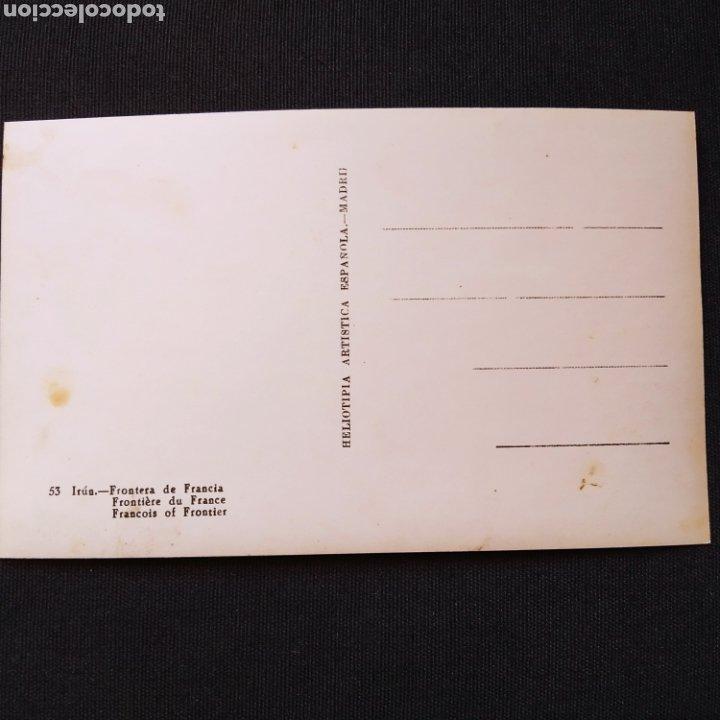 Postales: 53 Irún, Frontera de Francia. Heliotipia Artística Española - Madrid - Foto 2 - 276707078