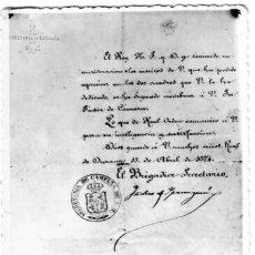Postales: ANTONIO MARÍA DE LECUONA ECHÁNIZ - NOMBRAMIENTO PINTOR DE CÁMARA DE CARLOS VII - INÉDITA EN TODOCOL. Lote 277160738