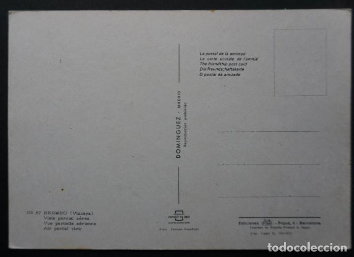 Postales: Bermeo (Vizcaya), vista parcial Aerea , antigua postal sin circular escudo de Oro - Foto 2 - 278457638