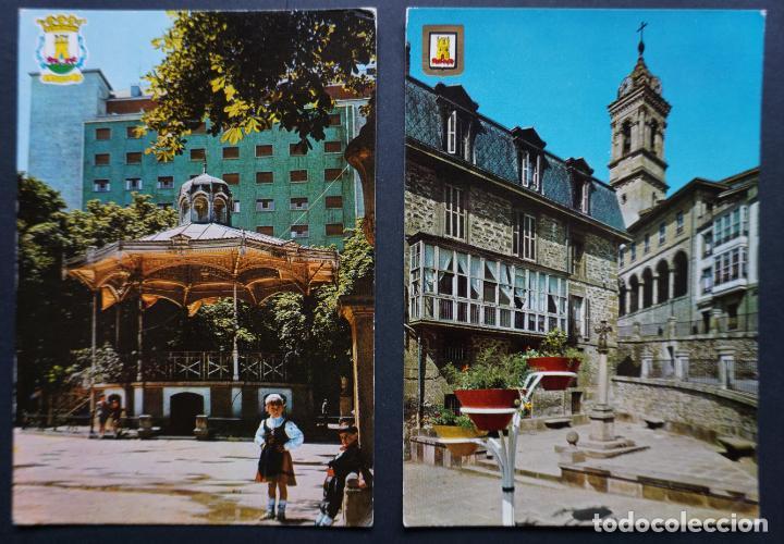 2 POSTALES DE VITORIA_GAZTEIZ, CIRCULADAS CON SELLO Y MATASELLOS, VER FOTO REVERSO (Postales - España - País Vasco Moderna (desde 1940))