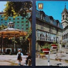 Postales: 2 POSTALES DE VITORIA_GAZTEIZ, CIRCULADAS CON SELLO Y MATASELLOS, VER FOTO REVERSO. Lote 278458003