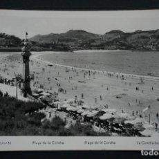 Postales: SAN SEBASTIÁN, LA CONCHA, POSTAL CIRCULADA DE LOS AÑOS 50 CON SELLO. Lote 278496493