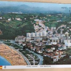 Postales: POSTAL SAN SEBASTIÁN PLAYA DE ONDARRETA Y HOTEL CODINA.1968. Lote 278630468