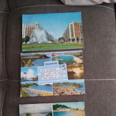 Postales: LOTE 3 POSTALES SAN SEBASTIAN AUTOBUS 2 PISOS AÑOS 60. Lote 279378633
