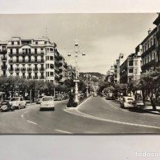 Postales: SAN SEBASTIÁN, POSTAL ANIMADA. AVENIDA DE ESPAÑA., EDIC., MANIPEL (H.1950?) S/C. Lote 279432158