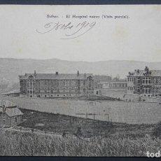 Cartoline: BILBAO, HOSPITAL NUEVO, POSTAL CIRCULADA CON SELLO DEL AÑO 1919. Lote 285044183