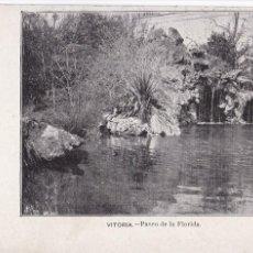 Cartoline: VITORIA, PASEO DE LA FLORIDA. NO CONSTA EDITOR. SIGLO XIX. VER REVERSO, SIN DIVIDIR. Lote 286724408