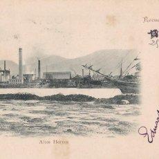 Cartoline: RECUERDO DE BILBAO ALTOS HORNOS. ED. JOSÉ CRUZ DE GORBEA. REVERSO SIN DIVIDIR. VER REVERSO. Lote 286732023